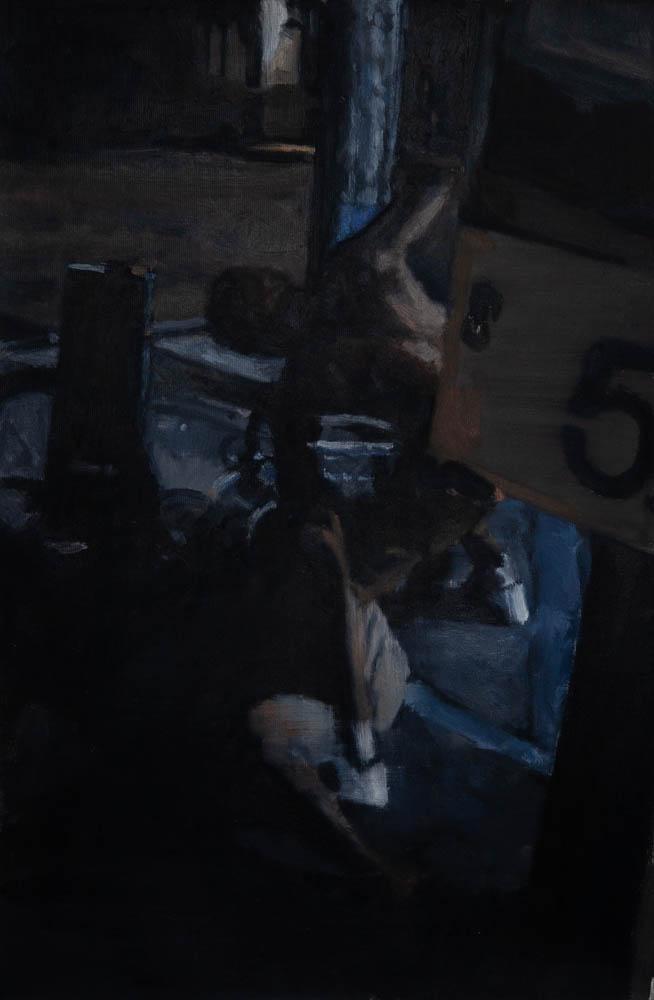 """Brawl 24"""" x 16"""" Oil on Canvas"""