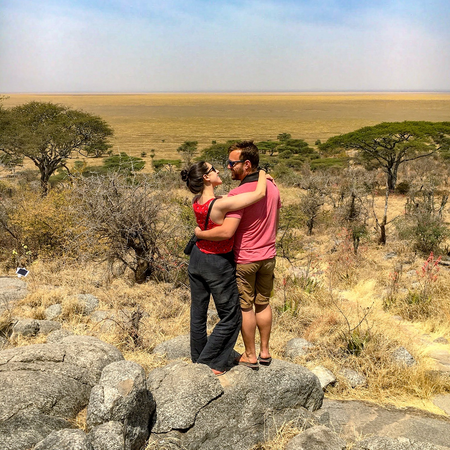 On safari in Tanzania, where we volunteered for 6 months