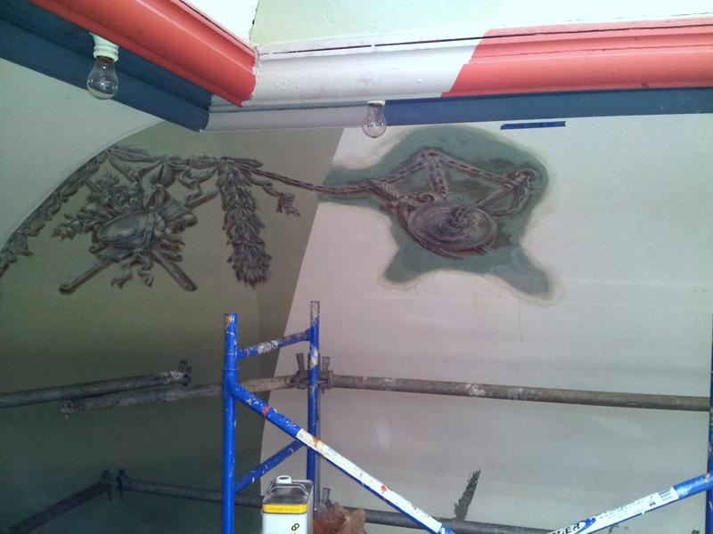Newly exposed ornamentation