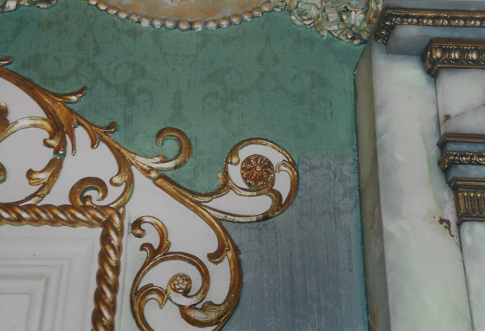 Conservation of original wall covering