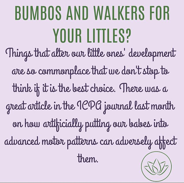 Great @icpa4kids article written by @birthfit @birthfit_nc Dr. Lindsay Mumma. Such an insightful read and challenges you to stop and think about what these very common kid toys do to the development of a babies' core and loading the spine and joints before they are strong enough to tolerate it. Food for thought🤓💜 #movewellmoveoften #functionalprogressions #dynamicneuromuscularstabilization #birthfitgrovecity #balancedmovement #movewellmoveoften