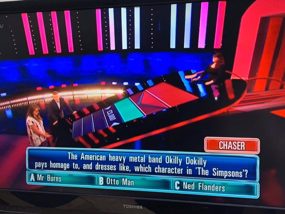Okilly Dokilly featured on The Chase. And she got it right!