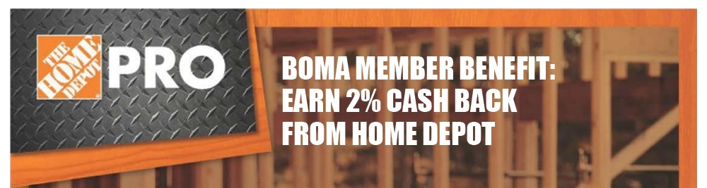 - The Home Depot now offers a national rebate incentive program for BOMA members. Enroll in the program and receive a 2% annual rebate on all qualifying pre-tax purchases (a qualifying purchase is any pre-tax purchase on a registered account). There is no cost to enroll. You can register any form of payment accepted by The Home Depot, including checking accounts, credit cards, debit cards and The Home Depot accounts. Annual purchases must total a minimum of $10,000 to qualify for the rebate.