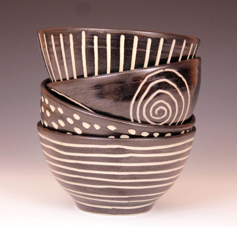 """Medium Bowls"" ceramic, approx. sizes 3 1/2"" x 6 1/2"" $44 each"