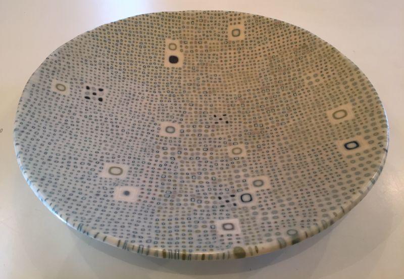 """""""Tide Pool"""" fused murrine glass 17 1/4"""" x 3"""" $1,750"""