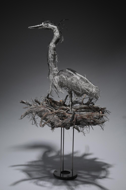 "MARLY EIDSNESS ""Great Blue Heron 8 - Nest Sweet Nest"" -"