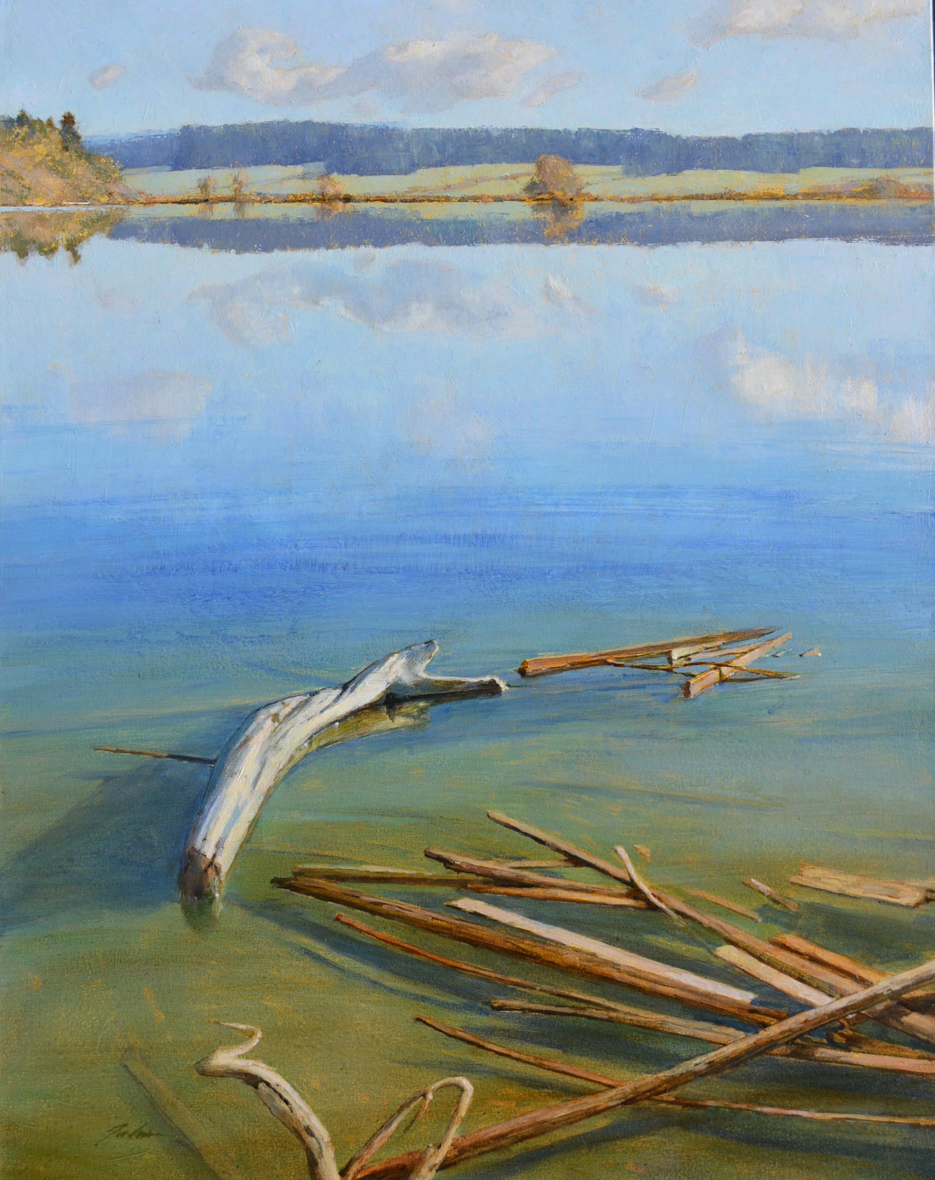 """""""Summer Shallows"""" oil on canvas, 28 x 22""""  $2,600"""