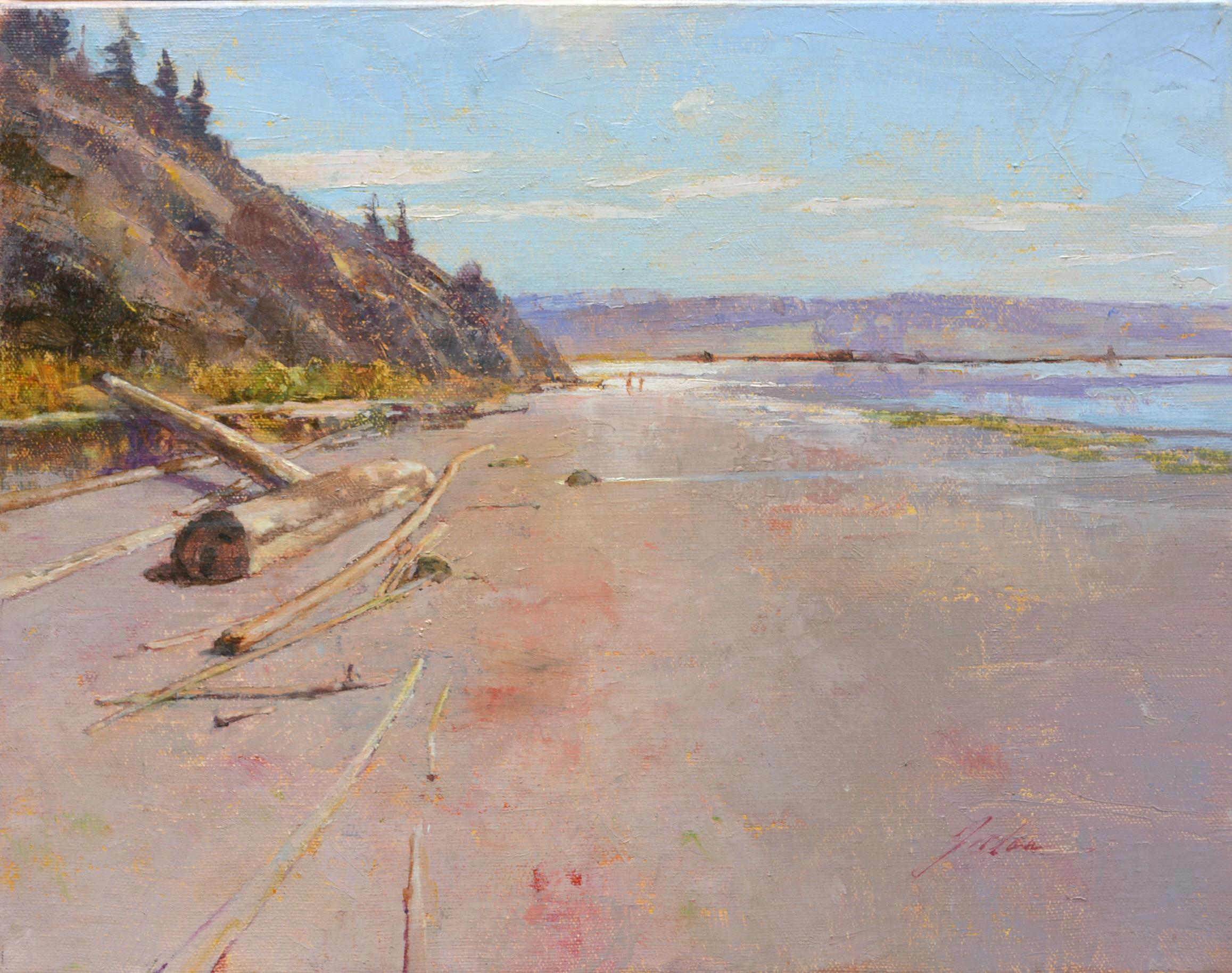 """Beach Walkers"" oil on canvas, 11 x 14"" $1,000"