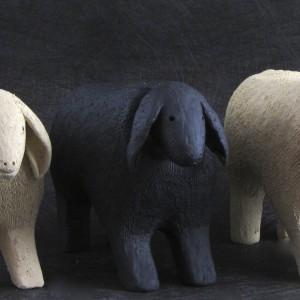 """""""Sheep"""" ceramic 6 1/2"""" x 8"""" x 3 1/2"""" $140 each"""