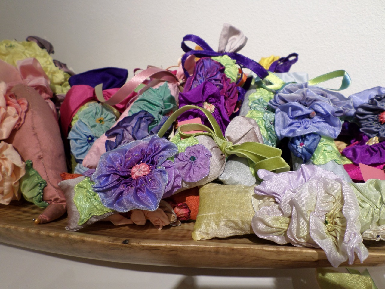 """Sachets"" vintage french ribbon, silks, french lavender, various sizes"