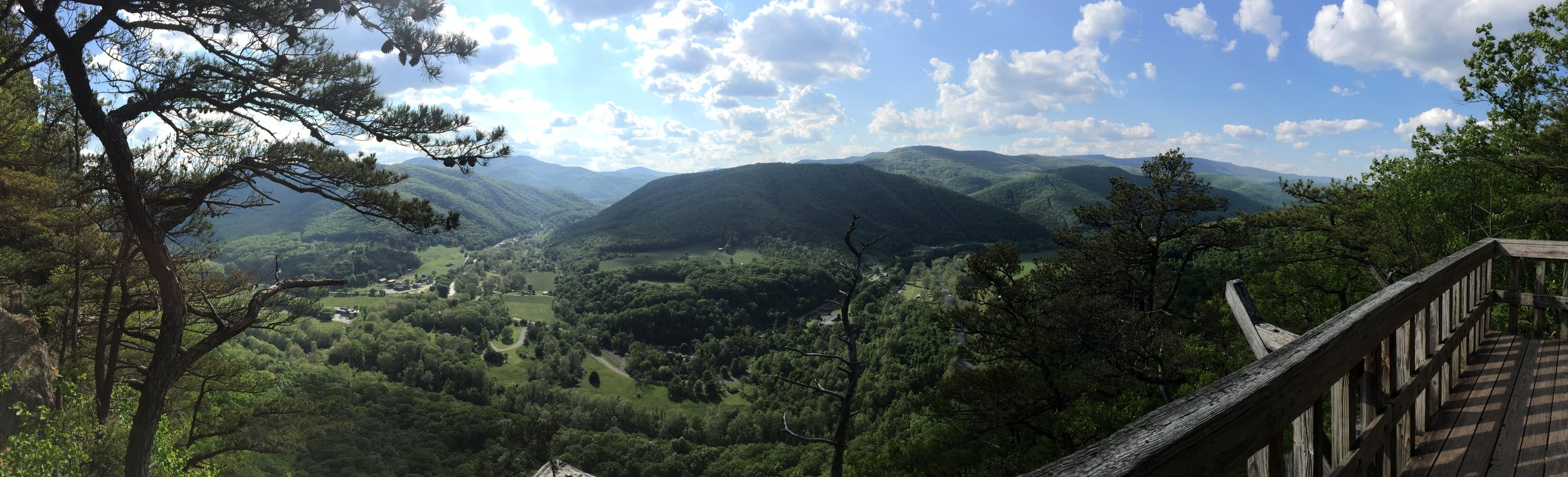 The view from Seneca Rocks