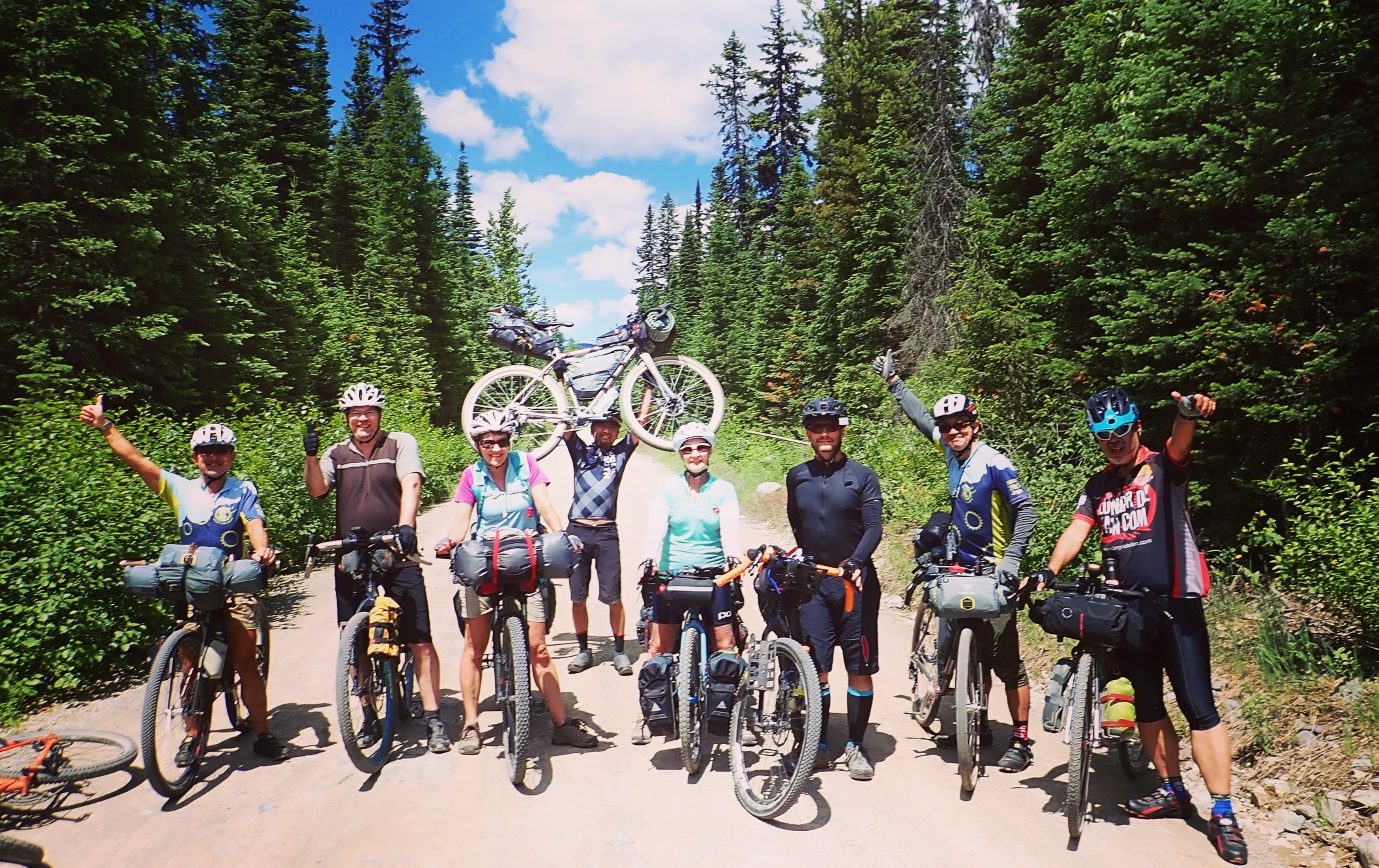 We met a group of Japanese bike packers who were riding a loop from Whitefish. They were more enthusiastic about other bikers than we were.