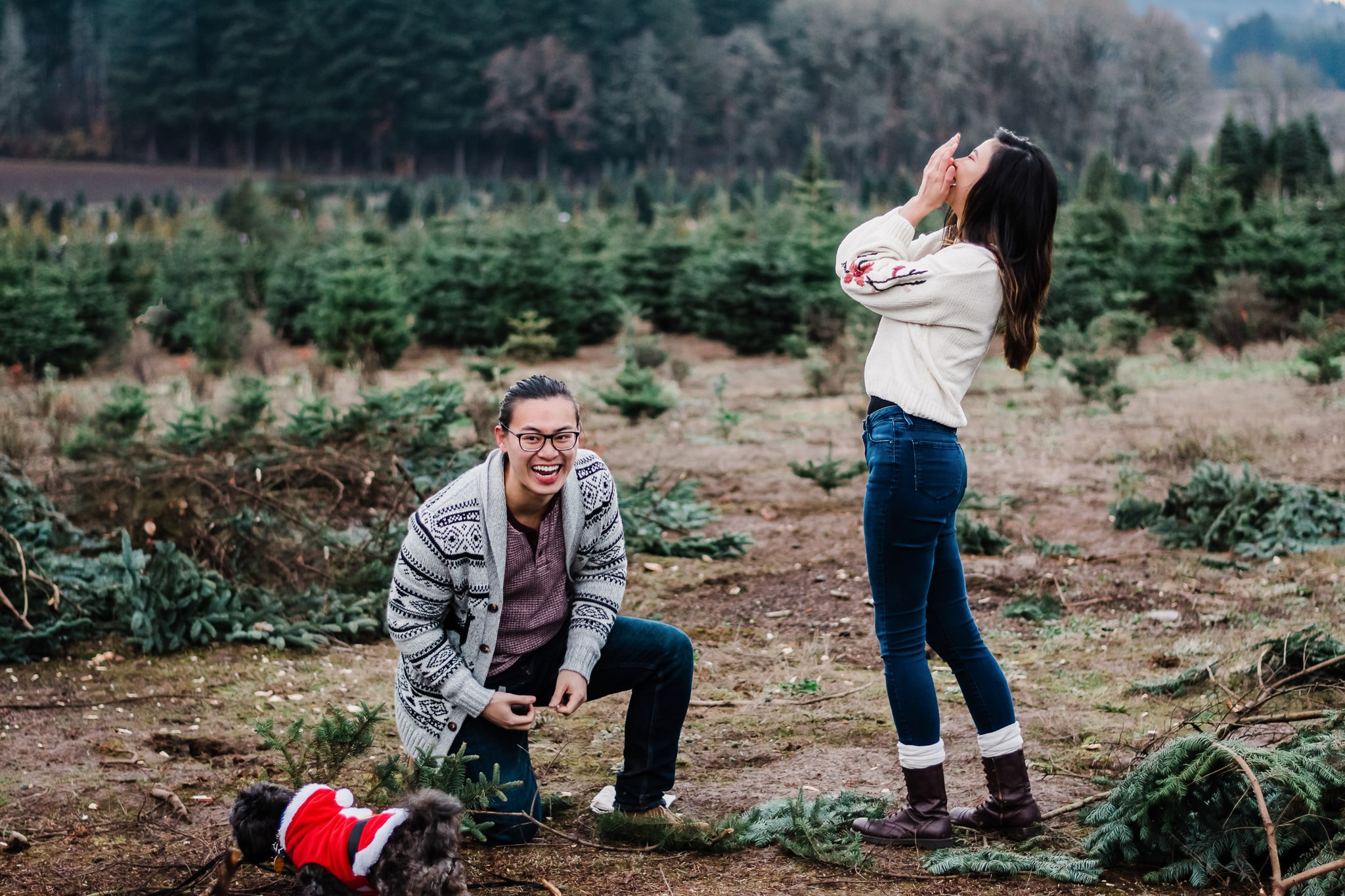 oregon surprise engagement photography