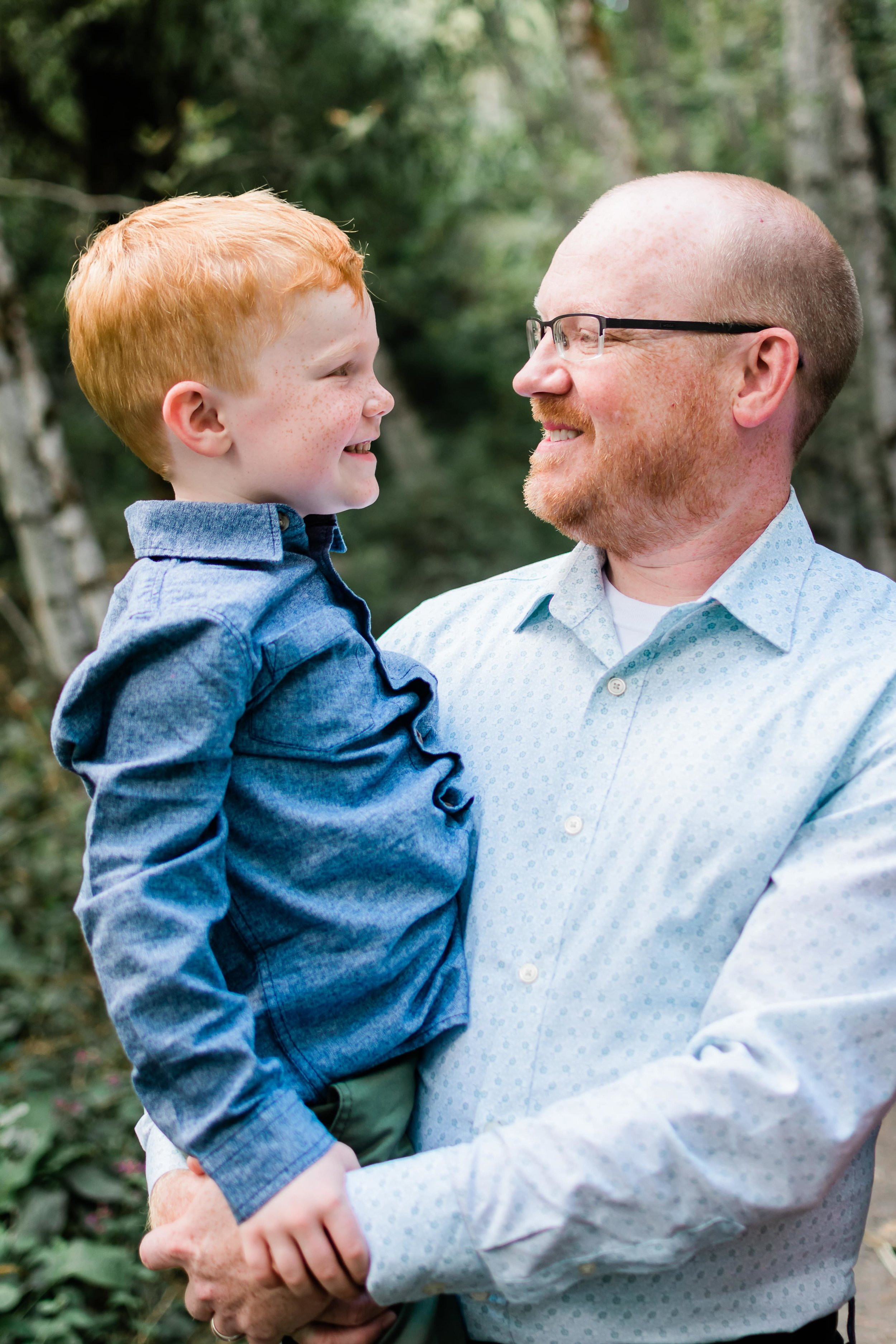 Father and Son Photo by Portland Family Photographer
