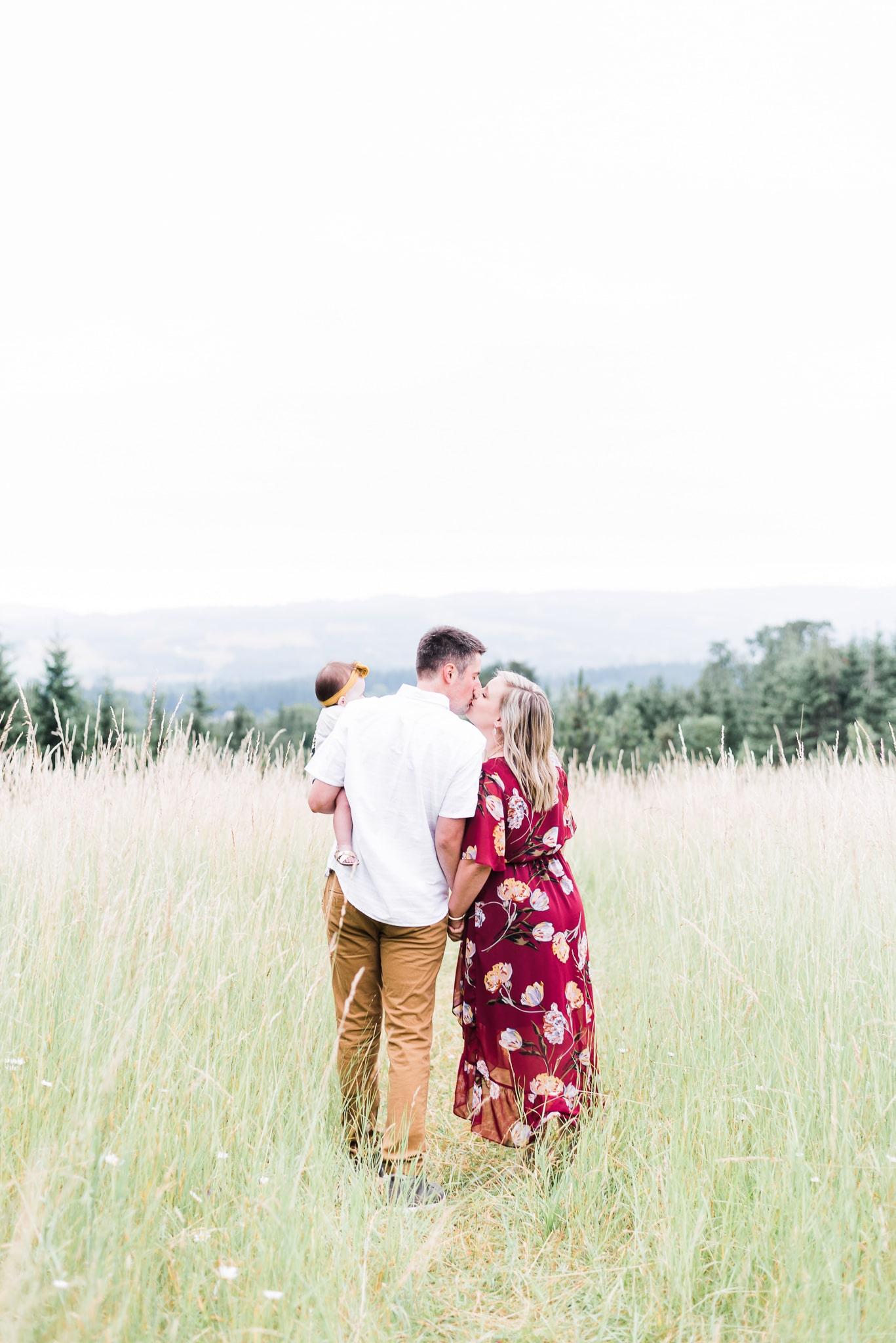 Portland family photography one year photoshoot