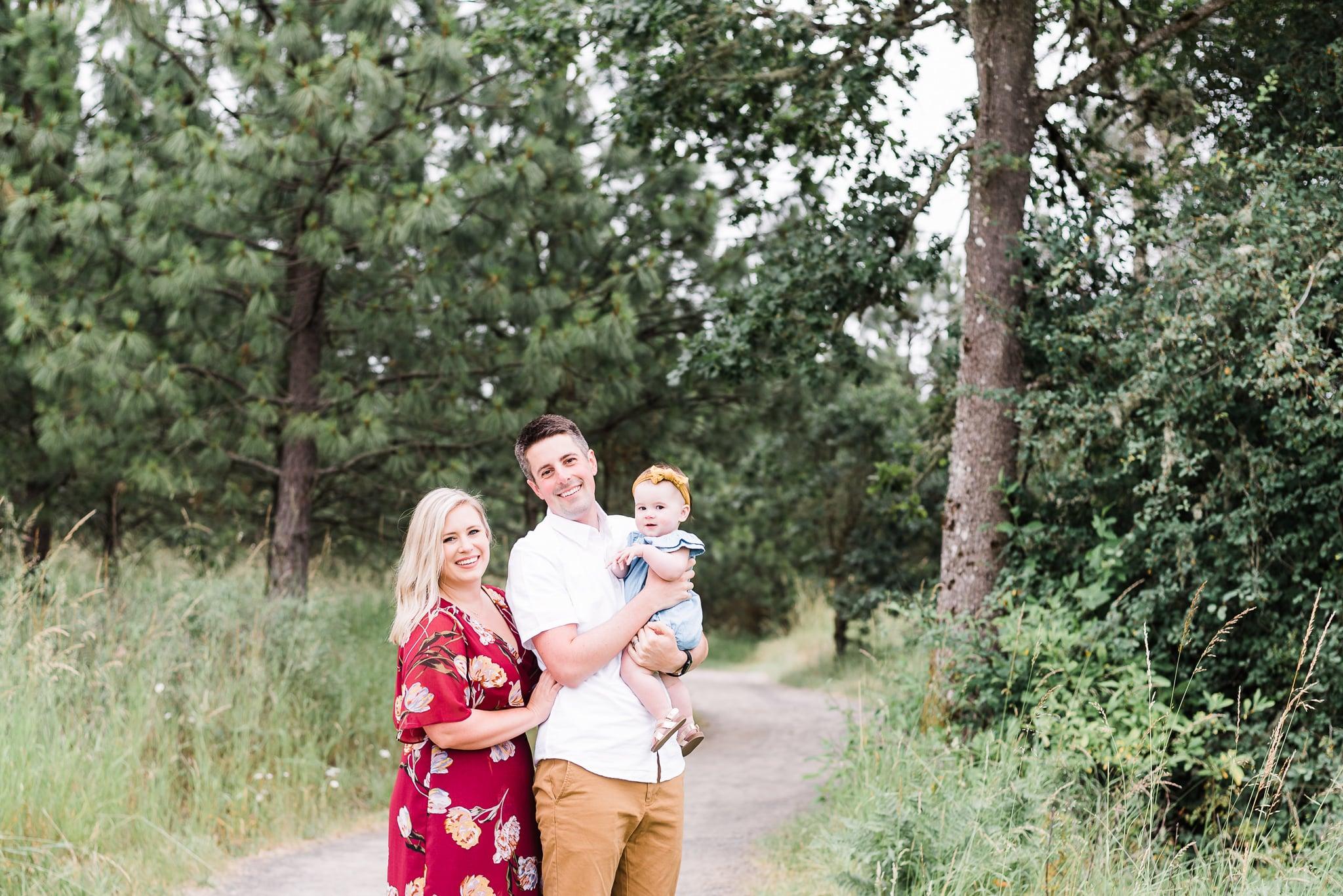family photos, baby milestone photoshoot of baby Emilia in Portland, Oregon