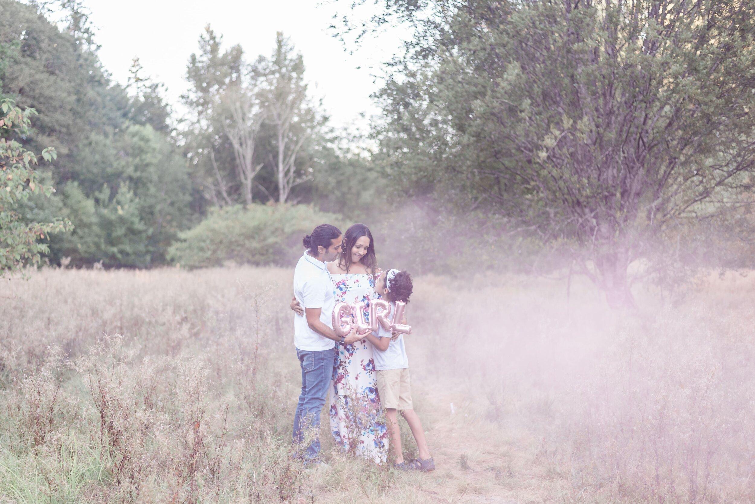 Gender Reveal Smoke Cannon| Elizabeth Hite Photography  gender reveal ideas, ideas for gender reveal, gender reveal party, surprise gender reveal, Portland Oregon