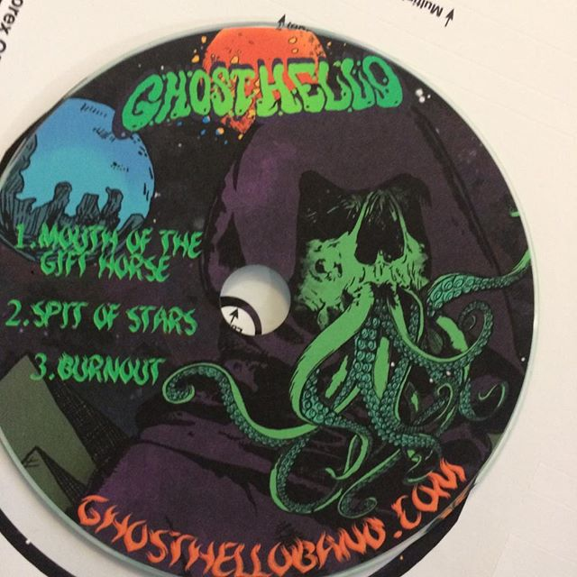 Tonight we head for #desertfestnyc we'll miss the St.Vitus show. We'll have a handful of these little guys. So if you're going to be there, hit us up! #diyband #hustle #stonermetal #stonerdoom #ultraheavy #occult #lovecraftian #cvlt #heavymetal #diyordie #cds #ohiomusic #ohioband #fuzz #desertfest #stoner #riffs #guitarriffs
