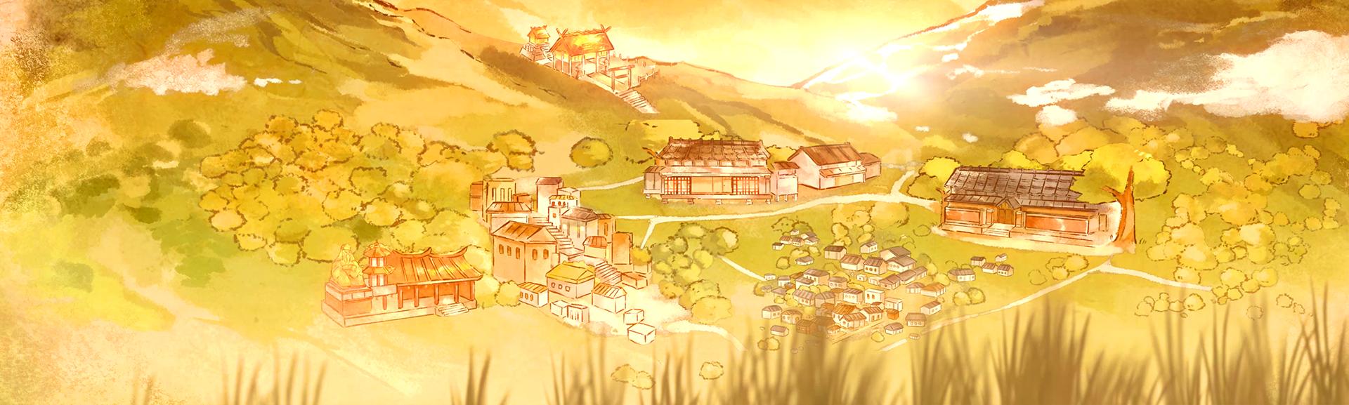 劇照:遠眺金瓜石山城,黃昏