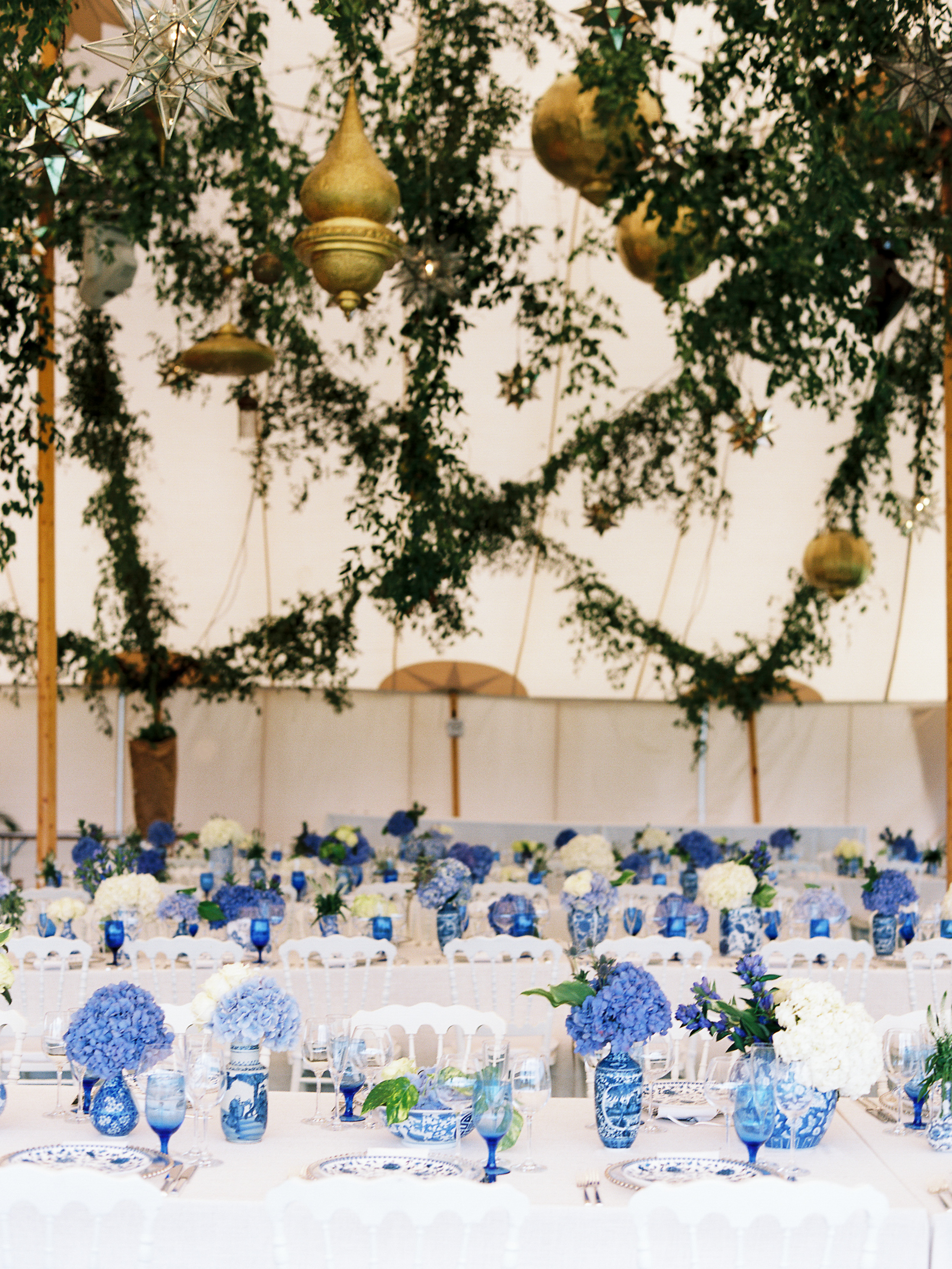 SPERRY TENT WEDDING, BLUE AND WHITE WEDDING, CHINOISERIE ,