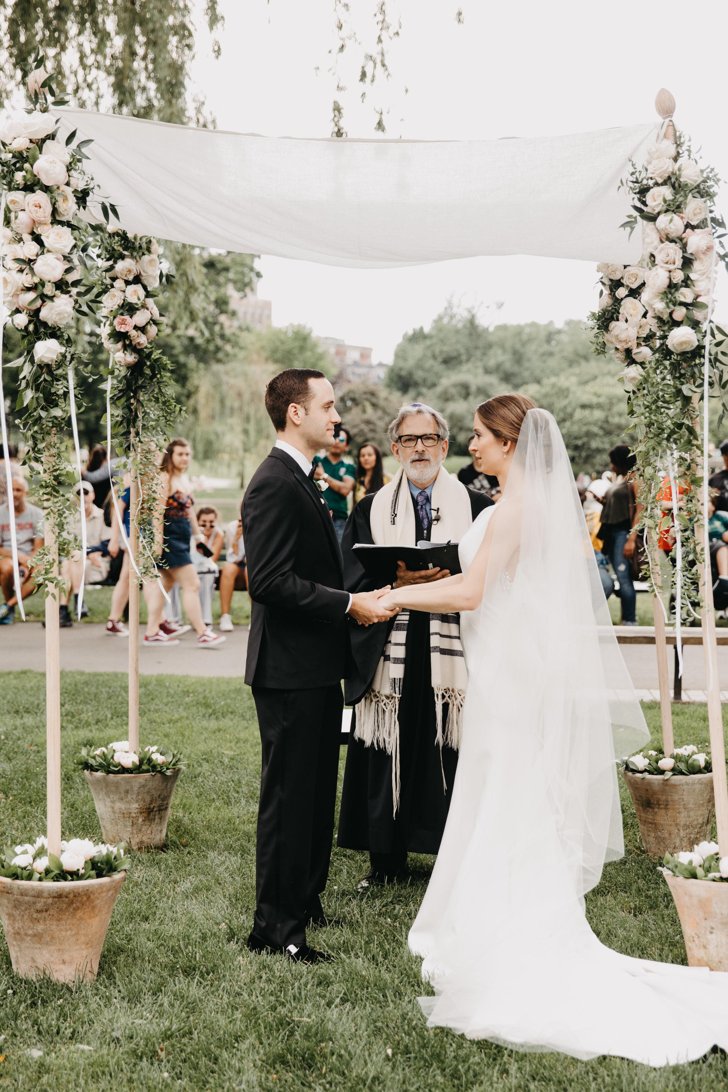 BOSTON PUBLIC GARDEN WEDDING, GARDEN WEDDING, BOSTON WEDDING PLANNER, NICOLE SIMERAL, FOUR SEASONS WEDDING, CLASSIC, TIMELESS, WEDDING WEDDING PLANNER, DESTINATION WEDDING, CHUPPAH