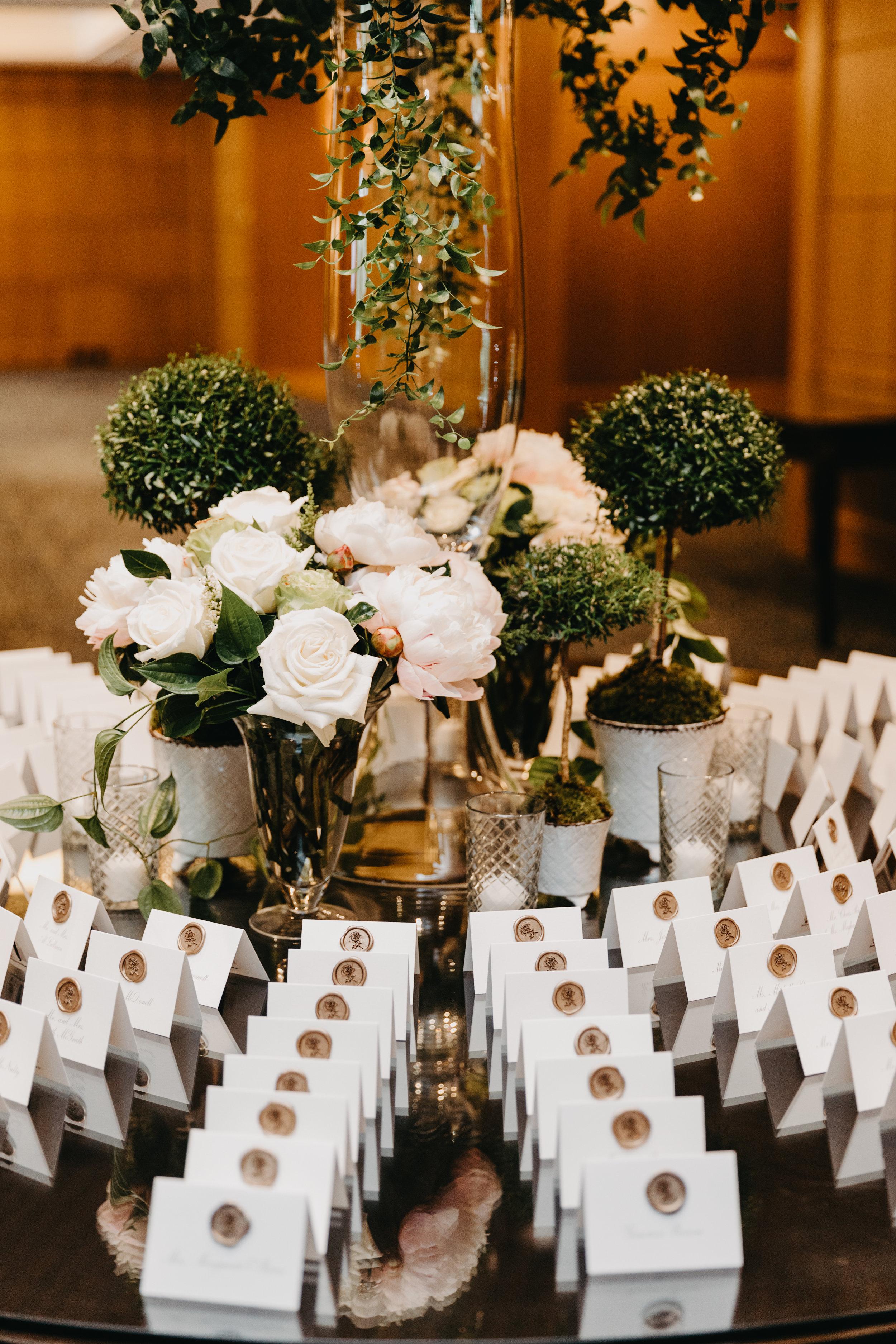 BOSTON PUBLIC GARDEN WEDDING, GARDEN WEDDING, BOSTON WEDDING PLANNER, NICOLE SIMERAL, FOUR SEASONS WEDDING, CLASSIC, TIMELESS, WEDDING WEDDING PLANNER, DESTINATION WEDDING, ECORT CARD TABLE ,DETAILS, TOPIARIES, GARDEN ROSES, PEONIES, SPRING WEDDING, BLUSH, NUDE, CLEMATIS