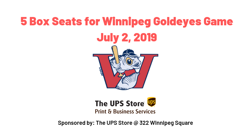 5 Box Seats for Winnipeg Goldeyes Game July 2, 2019.png