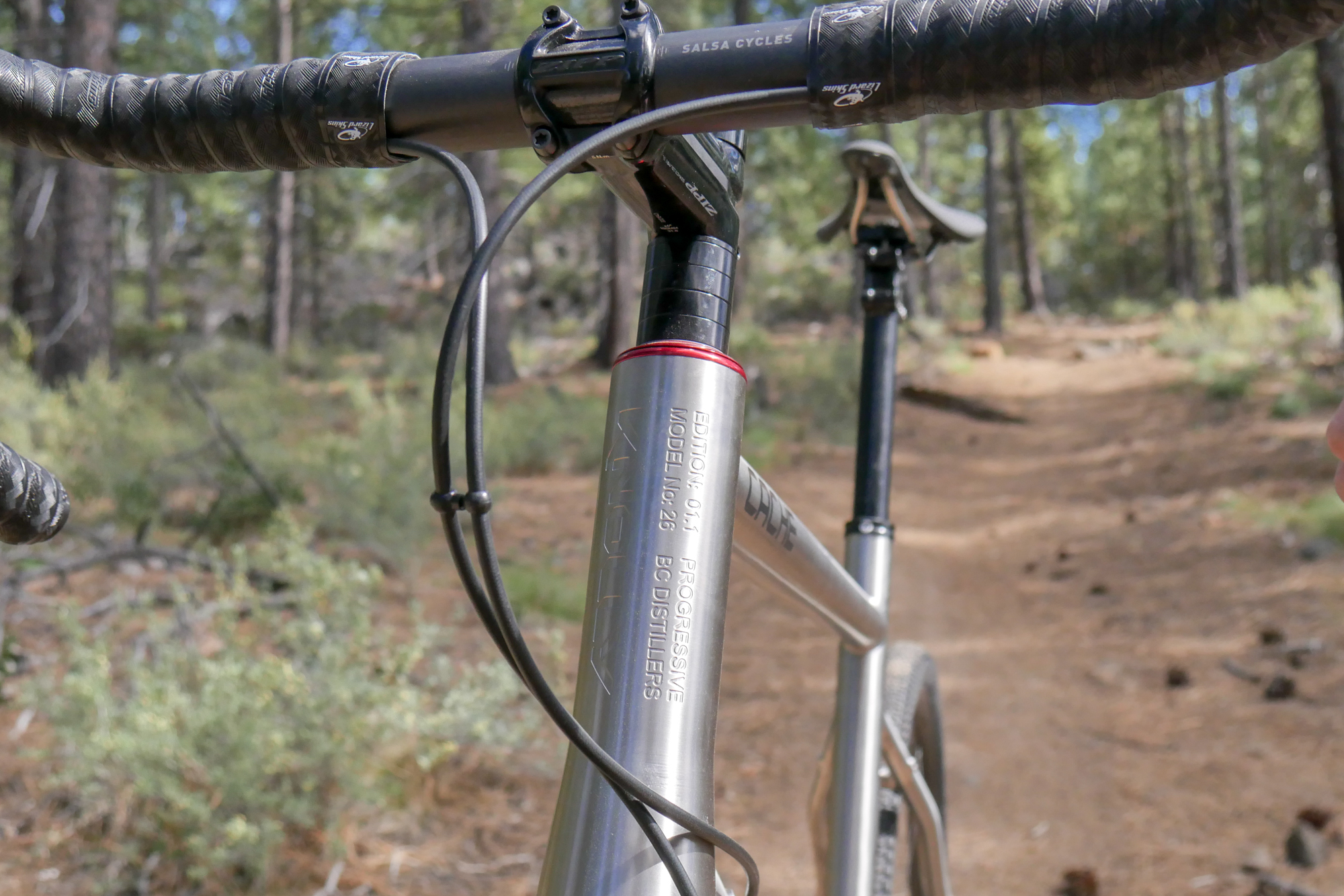2019 Knolly Cache Titanium at Bend Oregon Bike shop Project bike