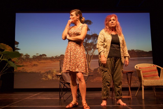 "Amy Johnstone (Margaret River) and Divyam Sue Gibson (Margaret River) in Andrew Turk's (Perth), ""Consequences'"