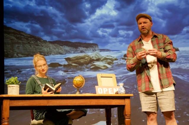 Ella Smith (Perth) and Daniel Ramsey (Perth) in Ella's play, 'Closed Today'