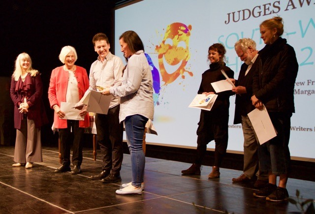Donyale MacKrill accepts her Judges award from Andrew Frith, General Manager, Arts Margaret River