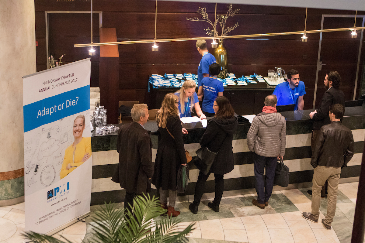 Registration Desk at the 2017 PMI Norway Chapter Conference
