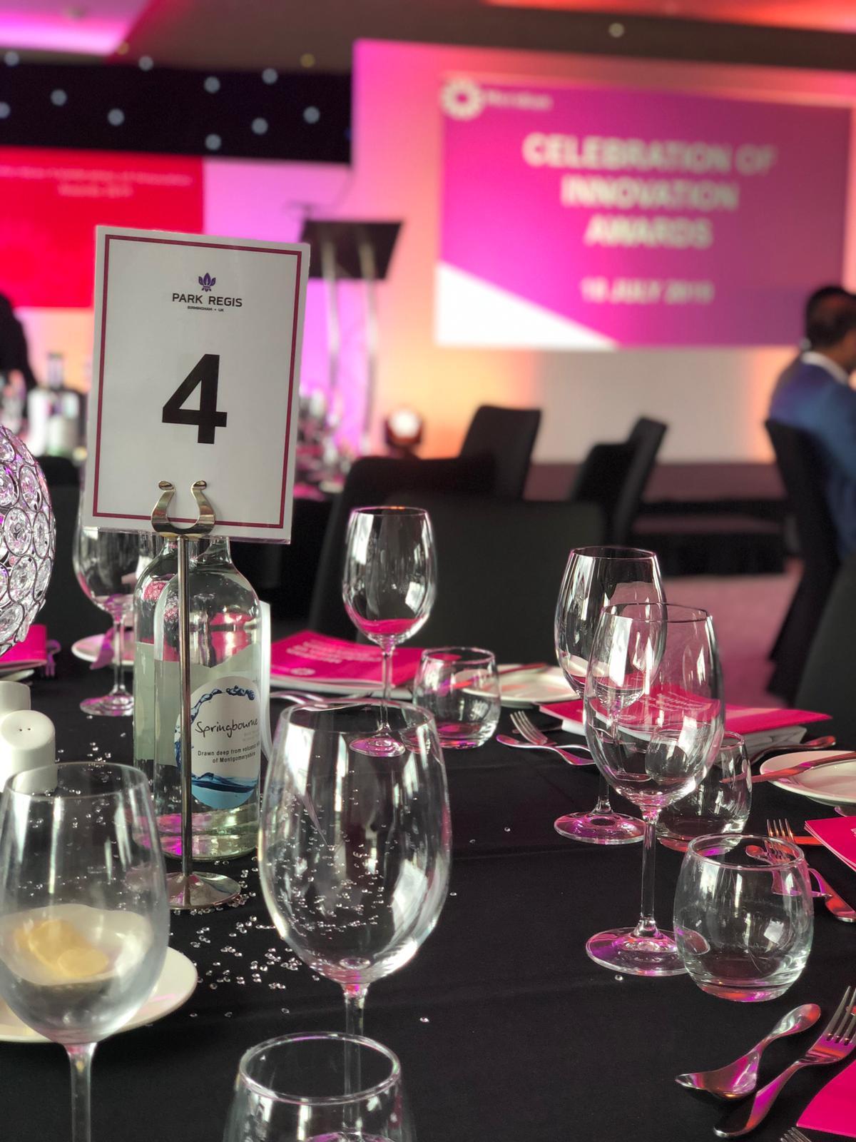 at the awards evening