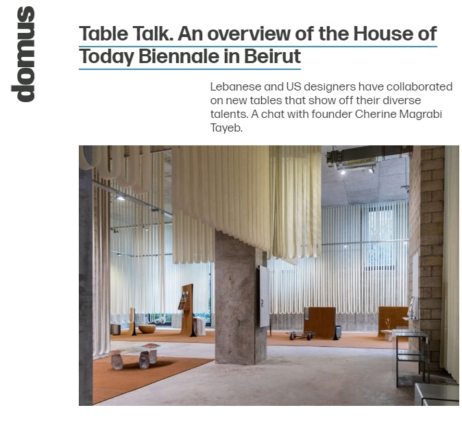 Domus web talking about House Of Today, mentioning our lead architect M. Anthony Daher