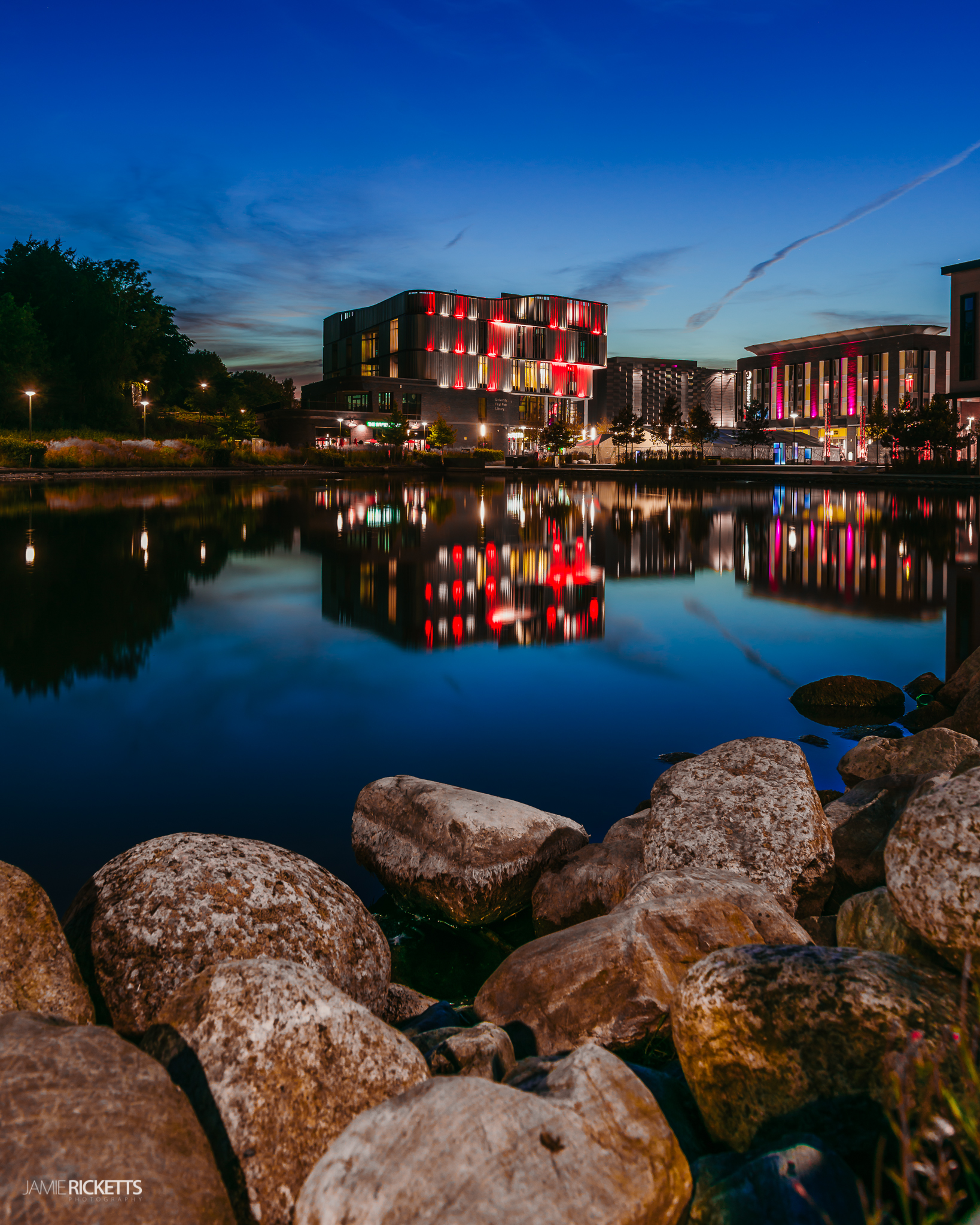 Southwater, Telford turns Red/White to celebrate England in the World Cup 2018.
