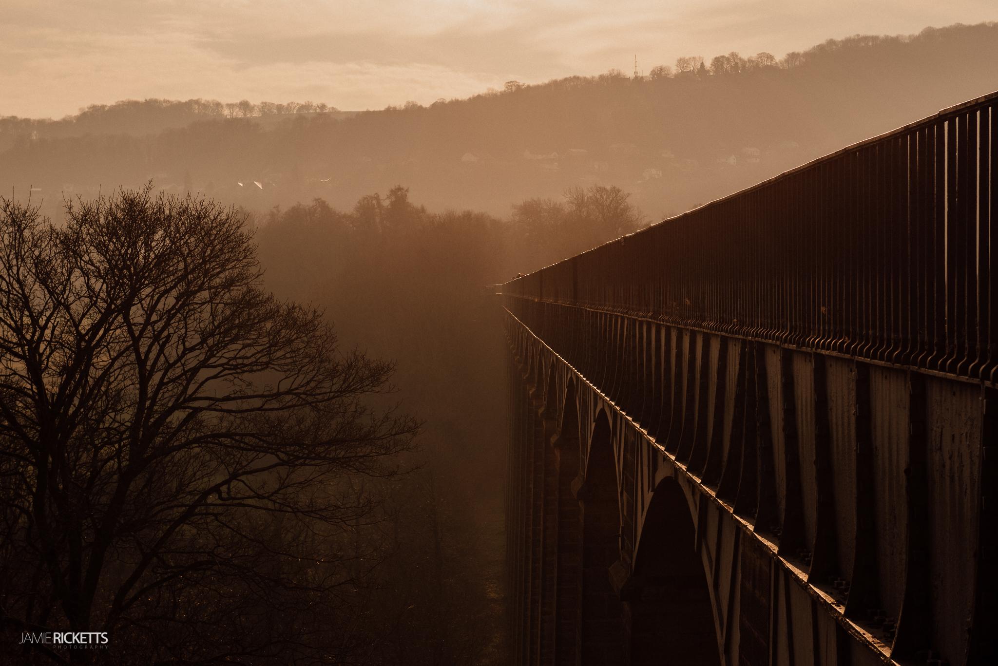 Pontcysyllte Aqueduct at Sunset.