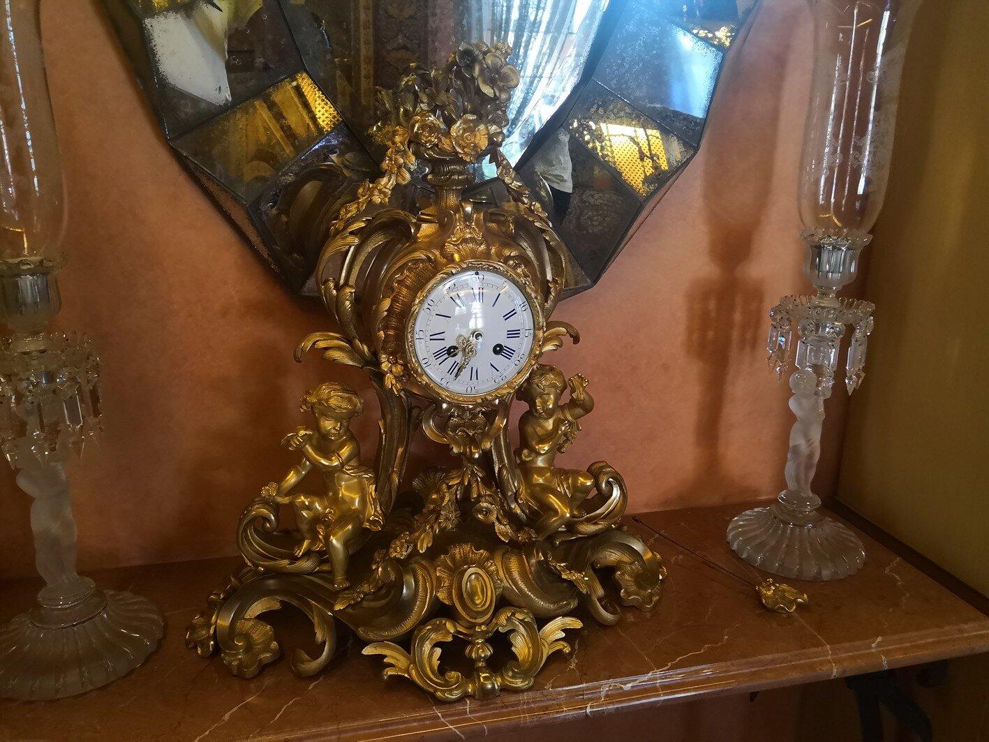 Antique Gold Clock with detached pendelum.jpg