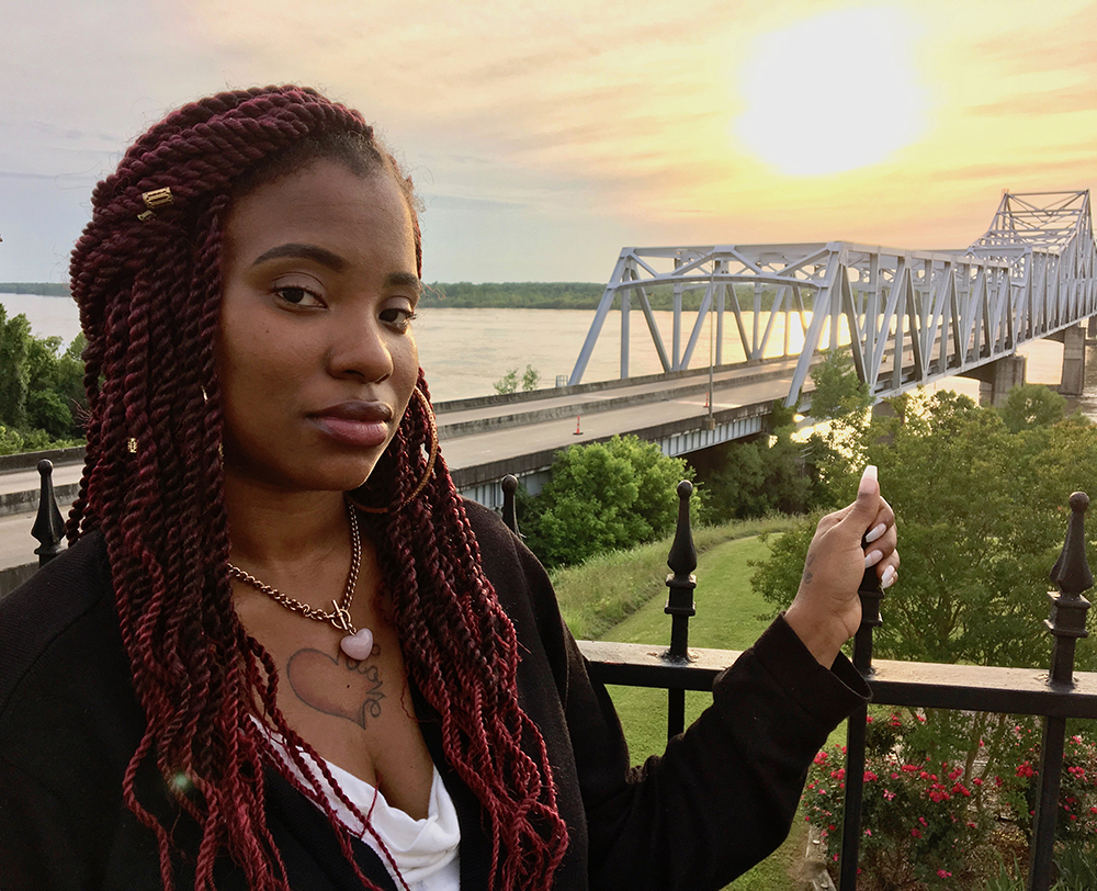 Jessica Reese, 25, of Vicksburg, Miss., was bounced in and out of 14 foster homes after years of neglect and abuse. A graduate of Vicksburg High School, she's struggled to continue her education in college but is determined to keep trying.   Billy Watkins/Mississippi Center for Investigative Reporting