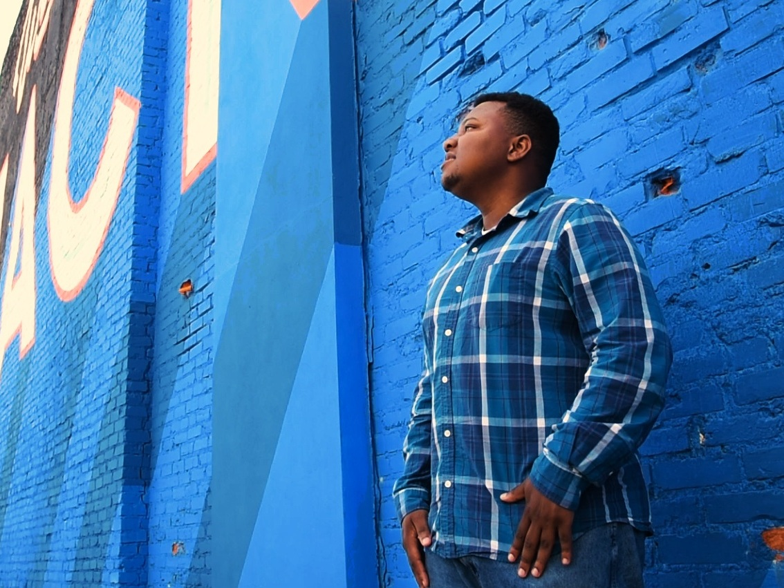 Scentrellis Dixon, 22, a former foster child, is part of the Youth Voice team that will meet with social workers at eight sessions across the state in May. Dixon, who was once told by a social worker that he'd never make it, is scheduled to graduate in December from Jackson State University.   Roger Newton/Juvenile Justice Information Exchange