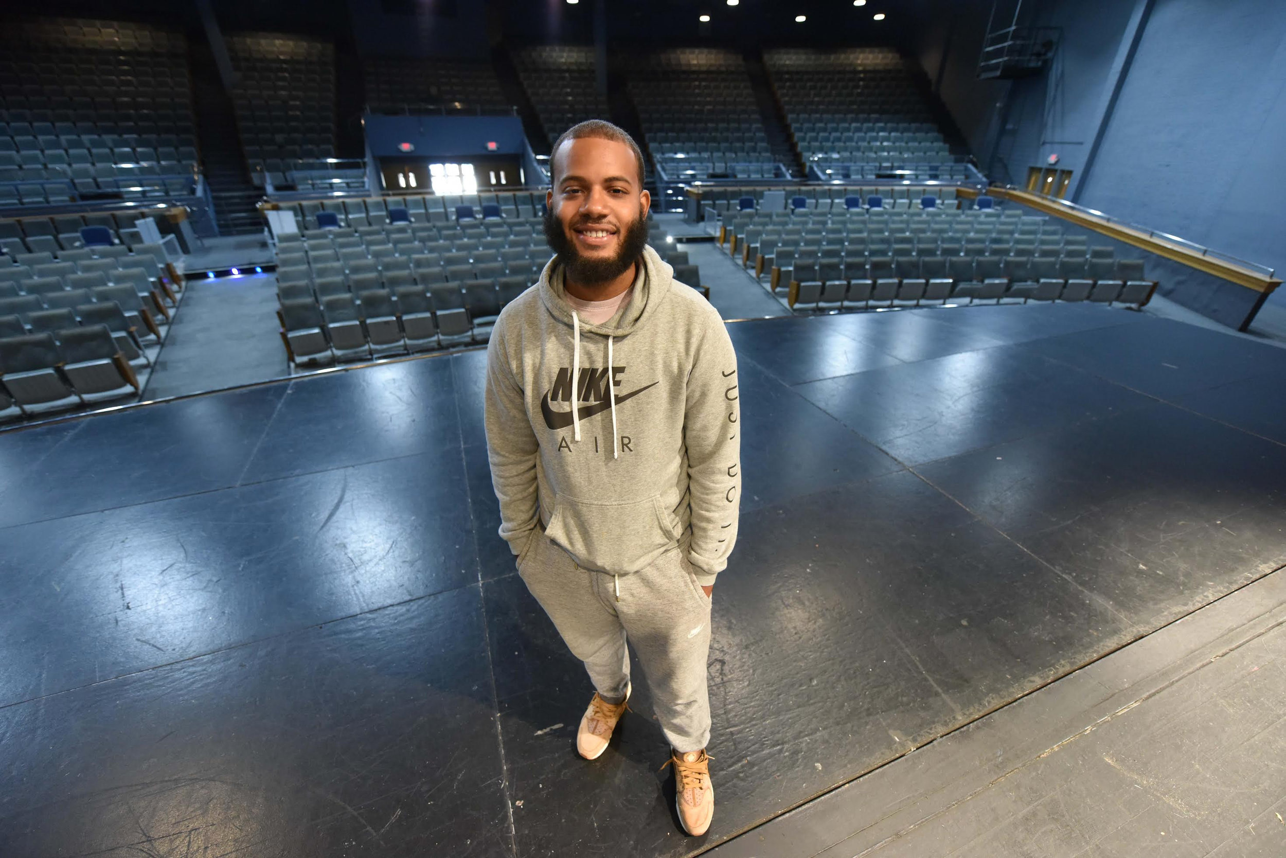 Student Michael Taylor is determined to change the negative stereotypes and narratives surrounding black men.   Sarah Warnock/Clarion Ledger