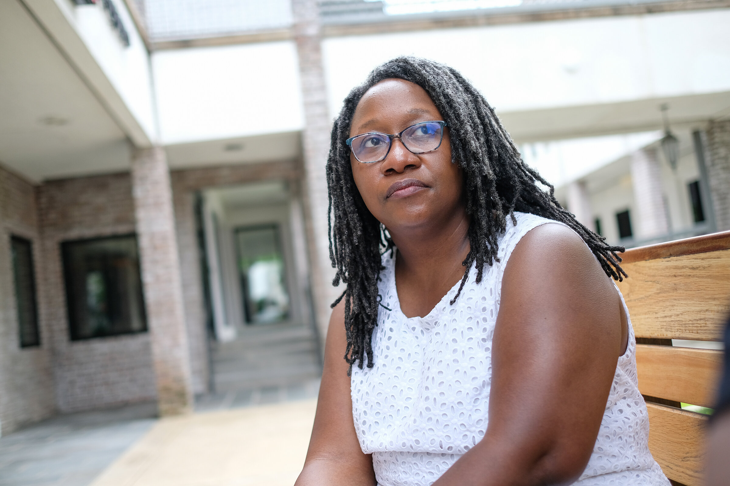 Latasha Willis, 44, has suffered from anxiety and depression since the early 90's. Today she works for the library system and is a NAMI Certified Peer-to-Peer Leader.    Charles A. Smith/Mississippi Center for Investigative Reporting