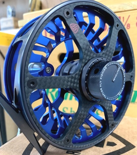 Taylor Revolution z - 7-9wt$499.99 - This new reel from Taylor Fly Fishing offers a fully sealed, salt-water safe, carbon-fiber, stacked drag system with 25lbs+ of maximum drag. Pairs well with large, slightly unruly fish. Call, or email the shop for availability.386-643-7300 / info@youngoutfitter.com