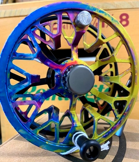 Taylor T-1 - Nebula 6-8wt$299 - Excuse the overdone simile, but this reel is light as a feather. A strong, fully sealed drag system means you won't sacrifice weight for gumption. Plus, look at the color. Call, or email for availability.386-643-7300 / info@youngoutfitter.com