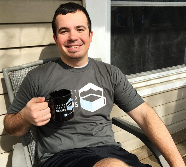 Looks like @jakebarto is using this great weather to enjoy the mug that he won in our contest!  Congratulations, Jake!