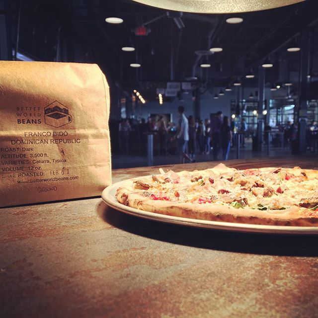 Coffee+beer+pizza....you can now find Better World Beans at Catch-A-Fire Cafe located at Madtree Brewing Company. Today we will be serving coffee to the hundreds waiting for the launch of Galaxy and Citra High