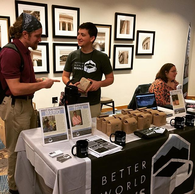 Presente! Excited to be an exhibitor at #iftj. Come by to try some coffee, and learn why ethical coffee matters.