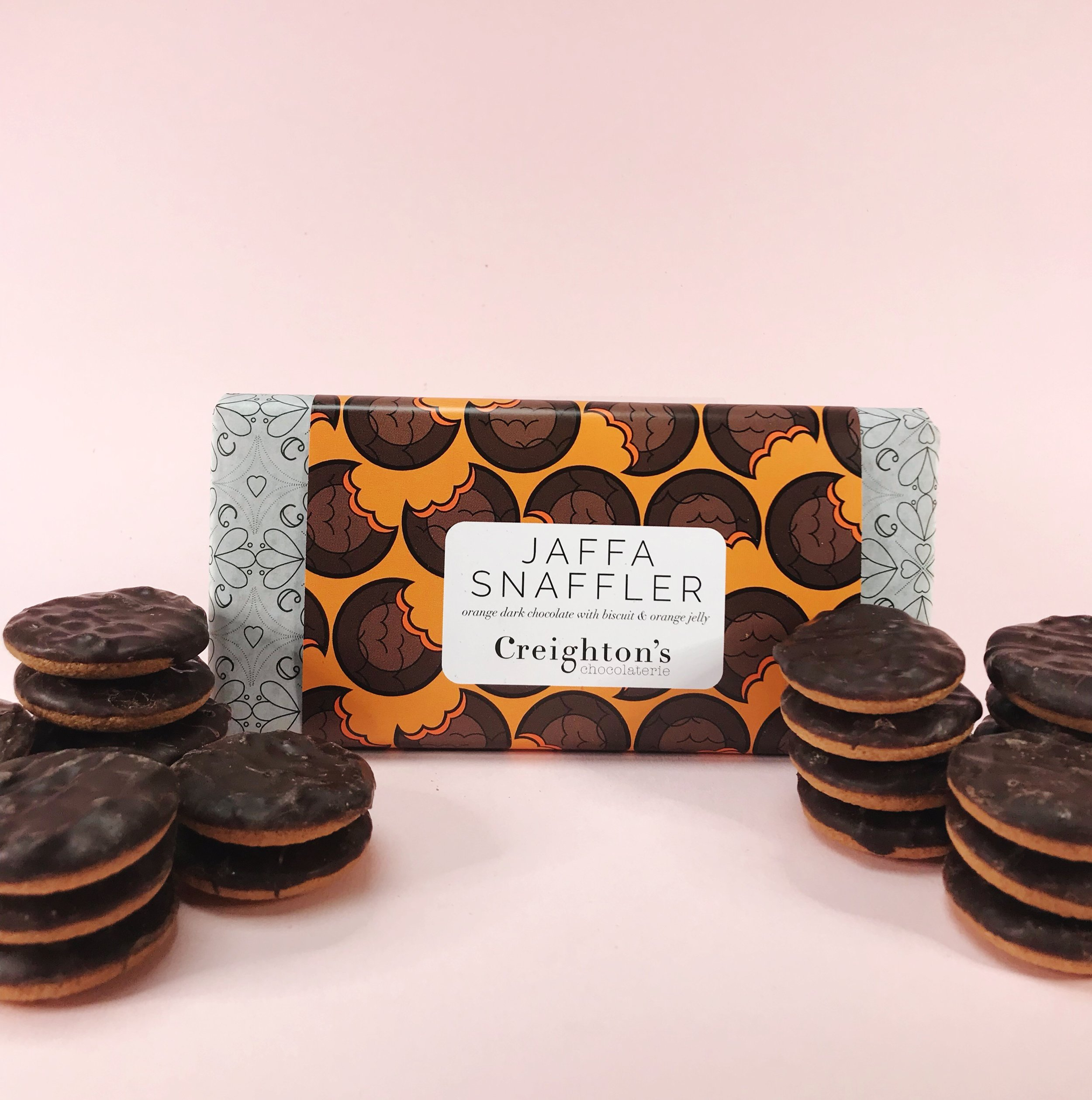 Creighton's Jaffa Snaffler dark chocolate - inspired by Jaffa cake