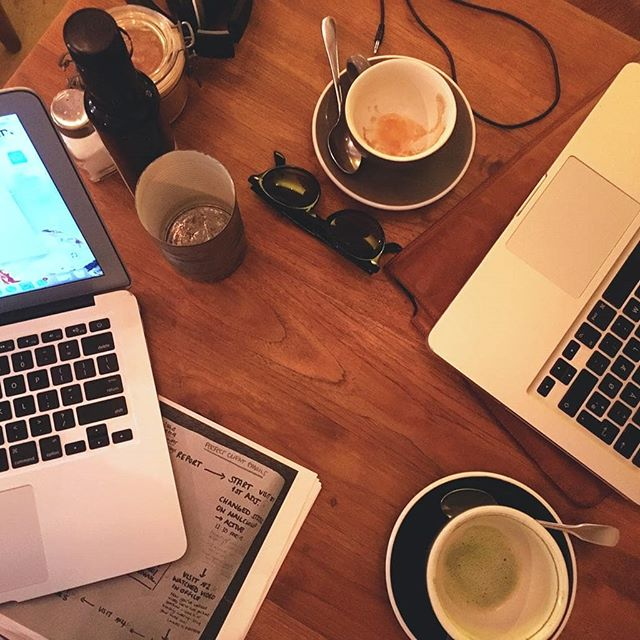 Today we're working out of office in one of our favourite matcha latte spots in town @laesquinabcn  We're designing an upgrade to the way we care for our community and share information with you all 🌟
