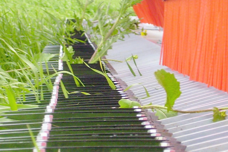 Comment ça marche? - En utilisant CombCut, la mauvaise herbe est coupée près du sol mais la Culture passe à travers la machine sans être endommagée.