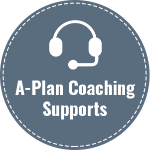 A-Plan Coaching Supports: - Personal and professional learning and developmentCreativityCommunicationGiving and receiving feedbackOverall engagementWork/life balanceLong term visioningShort term effectivenessGoal settingPriority managementMindfulnessHealth and wellnessEmotional intelligencePersonal and professional fulfillment